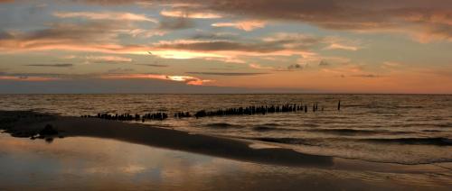 Całe morze moje... a może nie(?)... i kto jest tym JA? ja, Ty, czy może ten ptak na niebie zawieszony #morze #zachód #ptak