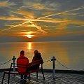 ...pewnego ranka #wschód #ławeczka #morze