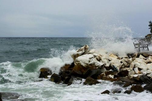 morze, fala #morze #SkalaPotamia #Grecja #NadchodziFala