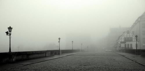 Gdańsk - Stare Miasto #Mgła #architektura