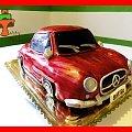 Tort samochód Mercedes #tort #TortyKraków #TortyWalentynki #auto #samochód #mercedes