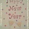Happy New Year - - stitchingcards.com #fantagiro7 #HaftMatematyczny #ObrazkiZSzyciaWzięte