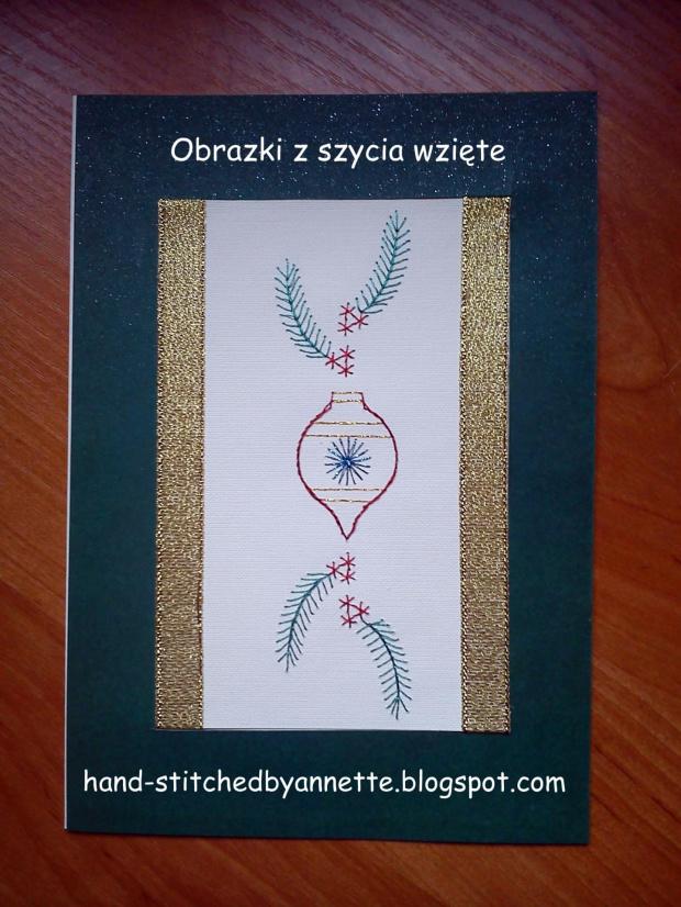 Bookmark Branch and Bauble - stitchingcards.com #fantagiro7 #HaftMatematyczny #ObrazkiZSzyciaWzięte