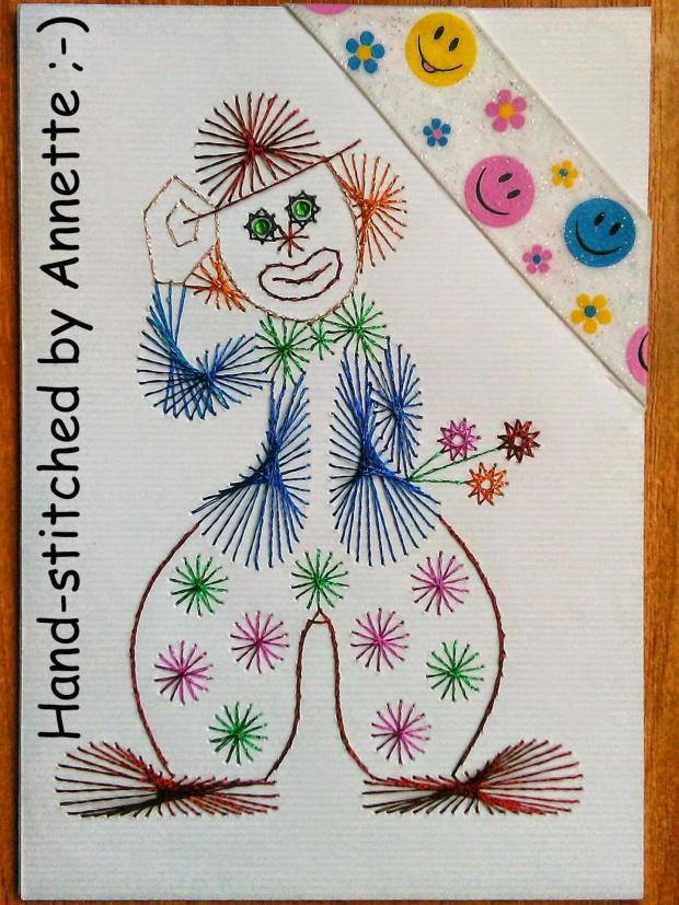 Obrazki z szycia wzięte - na podstawie wzoru ze stitchingcards.com #fantagiro7 #HaftMatematyczny #ObrazkiZSzyciaWzięte