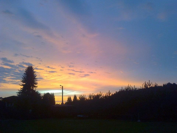 Piękny zachód słońca #ZachódSłońca #wieczór #piękno